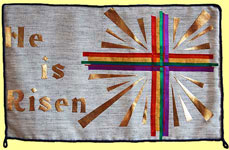 "Picture showing words ""He is risen"""